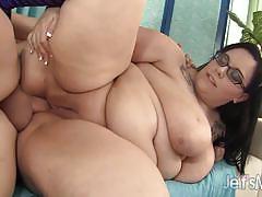 Horny bbw rides this hard cock
