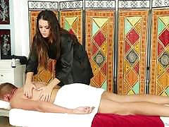Alison tyler shows off her mouth massaging skills