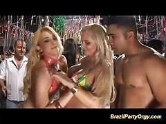 Brazilian babes fucked in orgy