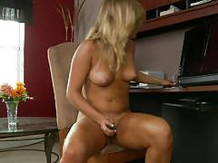 kennedy leigh, blonde, toy, dildo, solo, masturbate, masturbating