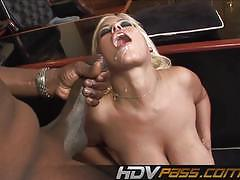 Sexy bridgette b takes on this huge dick