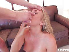 Hot blonde samantha saint gets banged very hard