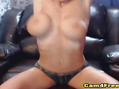 Busty amateur masturbating on webcam