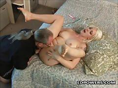 Tattooed blonde loves to fuck