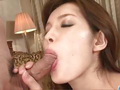 Naughty asian gets her pussy hammered