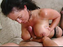 Mature woman gets a huge hard cock