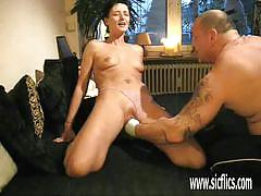 Naughty wife gets her pussy fisted