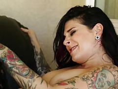 Joanna angel and scarlet lavey riding cock and eating pussy