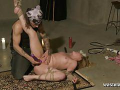 Dominated amateur gets her pussy toyed