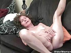 British moms and grannies strip and masturbate