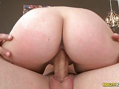 Hot ass lacey vega grinds her pussy down on his big dick