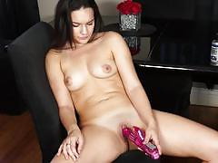 Dildo fucking her pussy