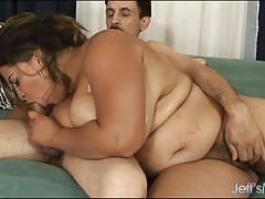 blowjob, big tits, suck, ebony, chubby, bbw, gagging, gag, sucking, hairy pussy, plumper