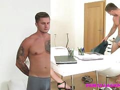 Casting a hunky cock