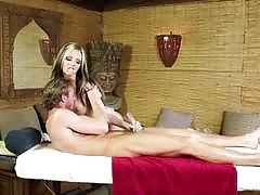 Cock sucking massage with jeanie marie