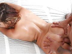Keisha grey gags on dick before taking it in her wet pussy