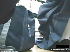 Japanese school girls panties caught on spy cam.