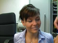 Secretary getting a creampie in the office