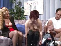 hardcore, blowjob, mature, fuck, threesome, german