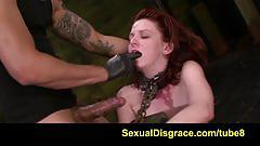 fetish, sexualdisgrace.com, perky tits, bdsm, bondage, domination, submission, dildo, sybian, fucking machine, hd, red head, fingering, vibrator