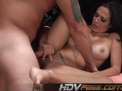 Randy amy fisher gets her pussy filled with hard cock