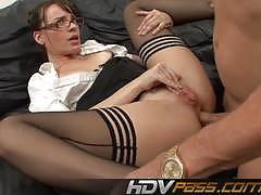 dana dearmond, doggystyle, cumshot, suck, facial, anal, glasses, teacher, hot, milf, cum, sucking, cum shot, anal sex, missionary