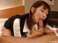 Japanese hot bitch gets banged hard