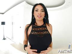 Asstraffic busty exotic babe gets her ass fucked hard