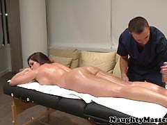 Busty babe alison tyler gets massaged and drilled.