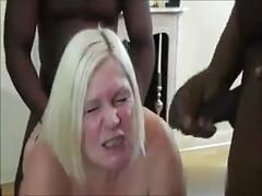 Mature wife getting drilled by black guys while hubby records