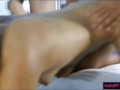 Slutty cowgirls group sex and facialed by nasty dudes