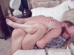 Busty hooker fucked over the huge couch  clip