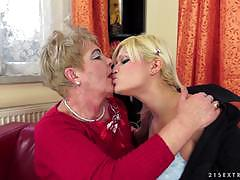 kitty rich, blonde, shaved, lesbians, lesbian, fingering, kissing, orgasm, chubby, old woman, eating pussy, face sitting, old, hairy pussy, licking pussy, grandma