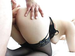 Voluptuous jenna ivory rides cock in lingerie