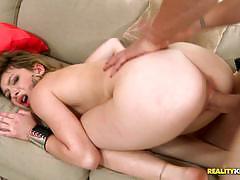 Hard cock slams into sexy kali james