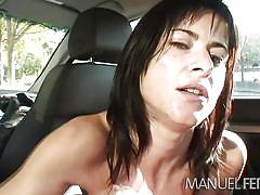 small tits, public nudity, pov blowjob, big dick, in car, brunette milf, manuel ferrara, myxxxpass, cecilia vega, manuel ferrara