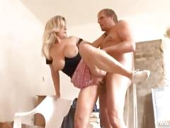 Blonde german milf visits construction guy for a grea fuck