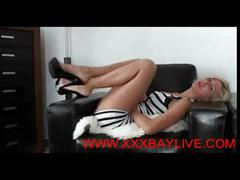 Blonde babe gives joi @www.xxxbaylive.com
