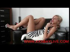 Blonde babe gives joi @www.xxxbaylive.com