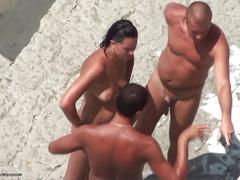 amateur, public, milf, threesome, outdoors, outside, spy-cam, group-sex, nude-in-public