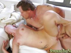 Stepdaughter messy facial