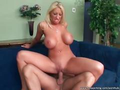 Amazing big boobed milf rides cock