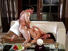 Veronica avluv gets hot and sweaty as shes rides on top