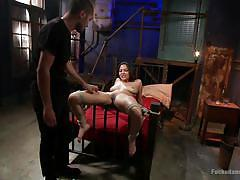 bdsm, interracial, pov, spread legs, fingering pussy, tied on bed, asian babe, rope bondage, sex dungeon, dungeon sex, kink, mickey mod, adrianna luna