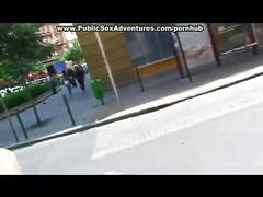 Cock pleasing in public