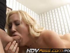 Blonde slut alana avans riding and getting cumshot