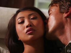 Sharon lee has her sweet asian pussy nailed perfectly