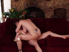Pussy grinding lesbains darla crane and odile