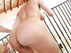 Luscious brunette gets banged out