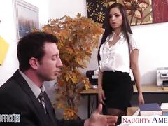 Chesty brunette yurizan beltran gets fucked in office